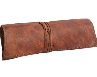 Gusti leather ' felix ' Stiftemappe Spring bag Schlamperrolle