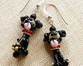 Black Lab Earrings,  Black Labrador Earrings,  Dog, Pet, Puppy