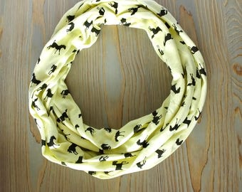 Oversized Infinity Scarf- Gift for her-circle loop wrap scarf-Gift for Sister-horse lover gift-gift under 25-mother's day gift-horse theme
