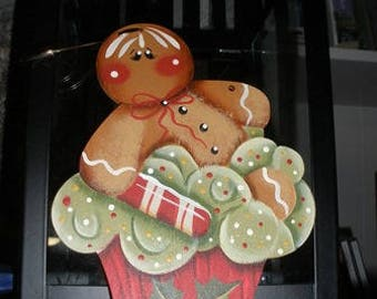 Gingerbread Cupcake Holiday Ornament