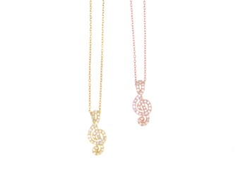 Musical Clef Necklace