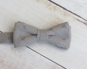 Gray Bow Tie, Kid Bow Tie, Baby Bow Tie, Grey Bow Tie, Cotton Bow Tie, Boy Kid Bow Tie, Ring Bearer Bow Tie