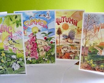 Four Seasons set of cards