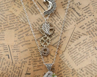 """The mechanics of fairies"" Silver labradorite necklace"