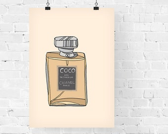 Chanel Coco Perfume Fashion Illustration Art Print