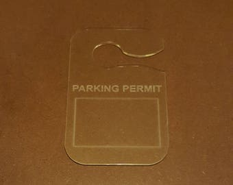 Parking Permit Sign for Car Windows