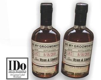 Wedding Party Proposal - Groomsman Proposal - Thank You Label - Groomsman Liquor Bottle Sticker - Thank You Groomsman - Whiskey Label
