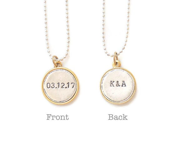 numeral vertical item roman necklace wedding gift anniversary date out cut gold color