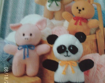 Handmade Knitted Four Animal Friends Koala, Piglet, Bunny And Panda (New, Made To Order) Christmas Stocking Fillers