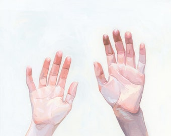 """8x10"""" giclee hand print - """"Two Hands"""""""