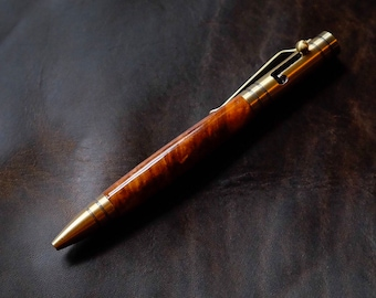 The Aroostook Handmade Ballpoint Bolt-Action Tec Pen with stylus