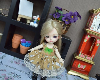 Outfit Pico Brown umbrella [1/8 = Tiny BJD.