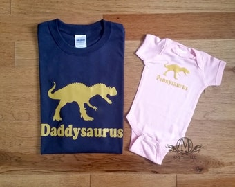 Daddy and daughter shirts, matching shirts, father daughter shirts, dinosaur shirt, fathers day, new dad gift, gifts for dad