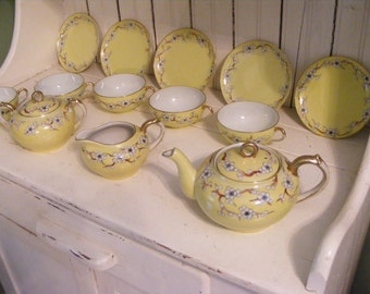 Reserved for Jessica-Tea Set-Nippon China with Dogwood Pattern