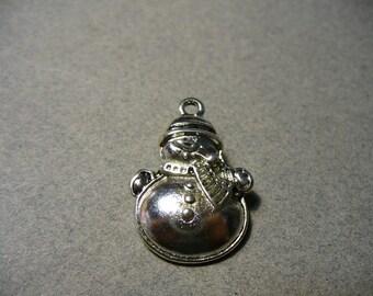 Charm Snnowman Antique Silver 25x17mm