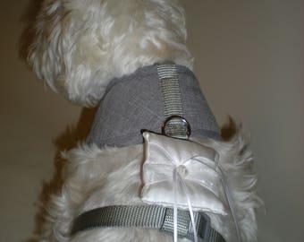 Dog ring bearer pillows, dog wedding pillows , formal dog ringbearer pillow, satin ring bearer pillow ,  rings bearer pillow, dog tuxedo