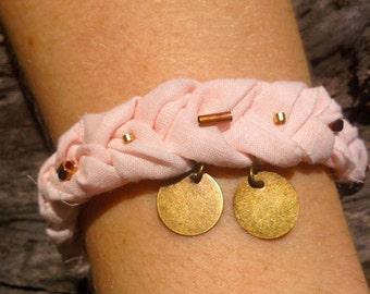 Bohemian Braided and Beaded Charm Bracelet