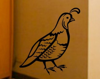 Partridge Birds Vinyl Wall Art Graphics Decal LARGE 22W x 25H