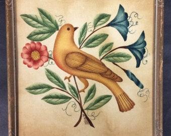"Vintage, Theorem ""Historic Bird"" Painting by Nancy Rosier"