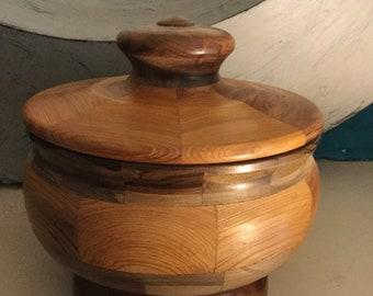 Segmented Turned Wood Bowl