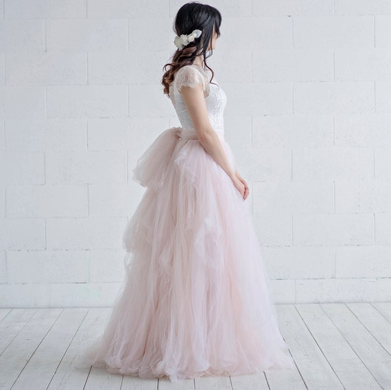 Cleo -  textured tulle wedding skirt