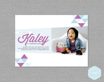 Modern Triangle Photo Invitation [Printable | DIY | Digital File]