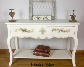 Shabby chic hand painted console table, sofa table,hallway table, entryway stand