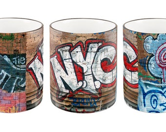 Andre Charles NYC Graffiti Wall Mug