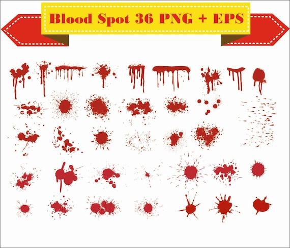 Blood Spots Open Crime Bleed Bleeding Wound Silhouette Clipart Eps