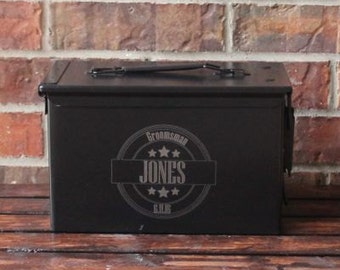 Personalized Ammo Box- 50mm - Groomsman/Bridesmaid, Wedding