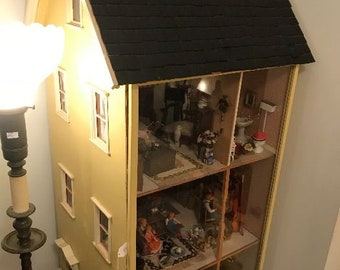Vintage 4 Story Dollhouse filled with miniatures 599.00 or Best Offer