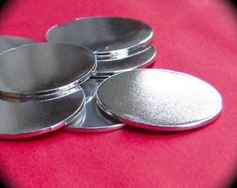 "25 Discs 3/4"" 14 Gauge Polished Pure Food Safe Aluminum - 25 Discs"