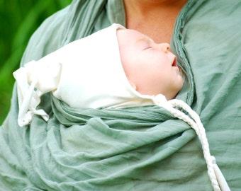 Organic Baby Hat - Newborn Hat - Tassel Hat - Pixie - Elf - Gnome - Eco Friendly - White Hat