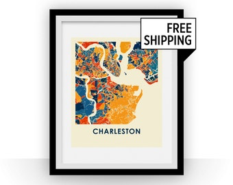 Charleston Map Print - Full Color Map Poster