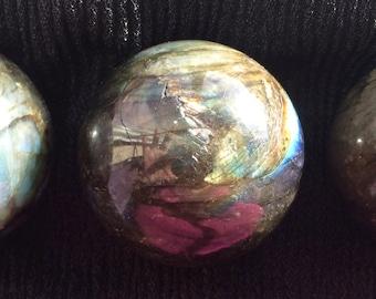 Labradorite Sphere, Divination, Scrying, Crystal Grid, New Moon, Full Moon, Chakra, Metaphysical, Pagan Altar, Magic, Spell!
