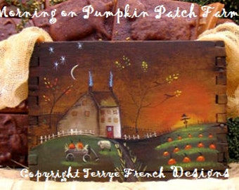 Morning on Pumpkin Patch Farm - Painted by Terrye French, E-Pattern