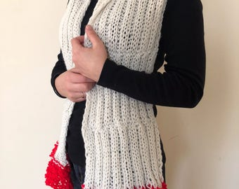 Hand knetted long scarf