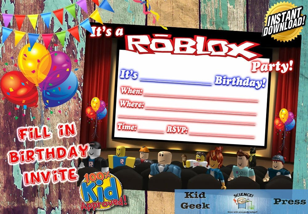 Roblox Fill In Birthday Party Invite Great And Unique Video