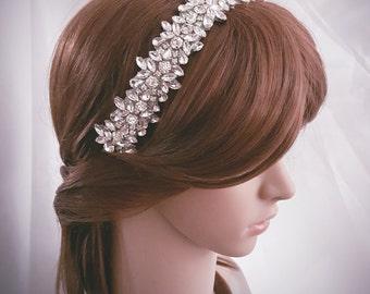 Bridal Headband, Weddings, Bridal Headpiece, Bridal Rhinestone Headband, Crystal Headband, Wedding Headband, Bridal, Silver, Gold Rose Gold