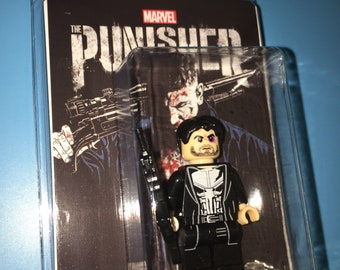 FRANK CASTLE aka Punisher Custom Comic Book Vigilante Minifigure