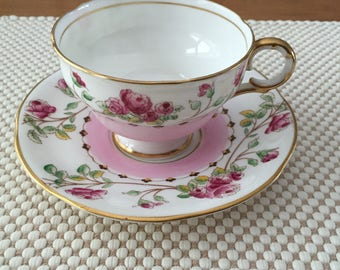 Melba bone china teacup and saucer