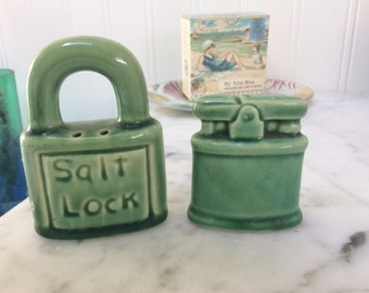 Salt Lock Vintage Salt and Pepper