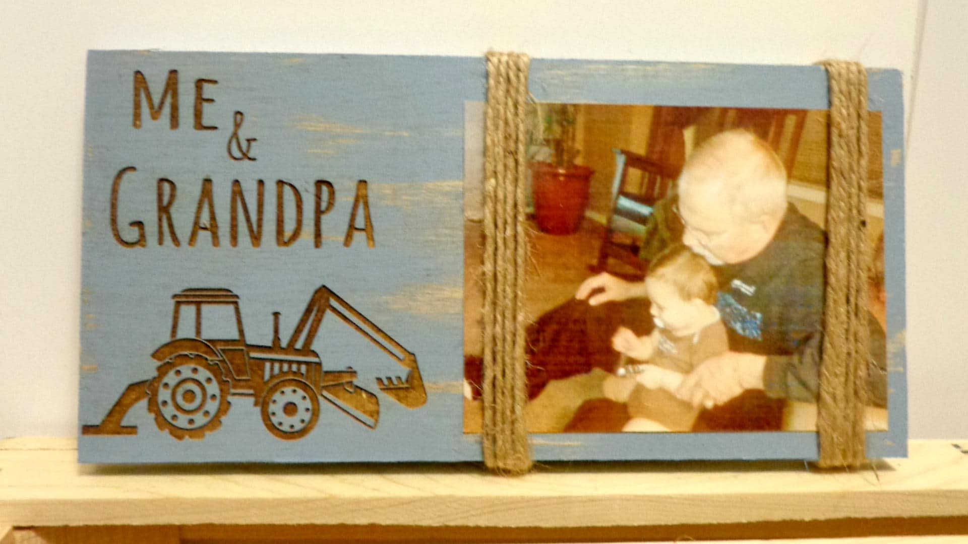 Grandpa and Me Picture Frame Tractor Grandpa Christmas Gift