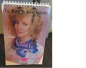 2-in-1 1983 Spiral Book: THE KNAUGHTY LOOK - The Magic Of Scarf Fashion / ...With the Scarf Clip (1612)