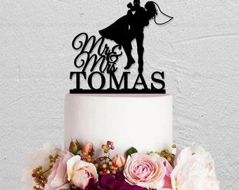Wedding Cake Topper,Iron Man Cake Topper,Custom Cake Topper,Mr And Mrs Cake Topper,Hero Cake Topper,Any Name Cake Topper,Couple Topper