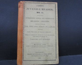 Antique  1831 reader Juvenile book