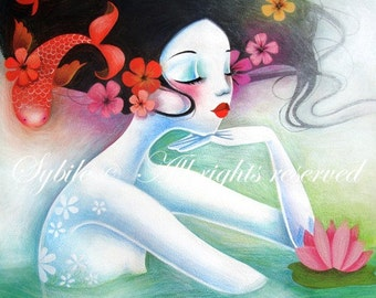 Print The mermaid princess