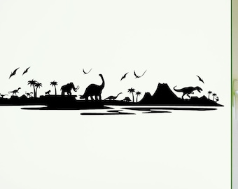 Dinosaur Wall Decal - 0042 - Wall Stickers - Bedroom Decor - Wall Quote - Kids Decor - Kids Decal - Kids Wall Art - Dinosaur Decal
