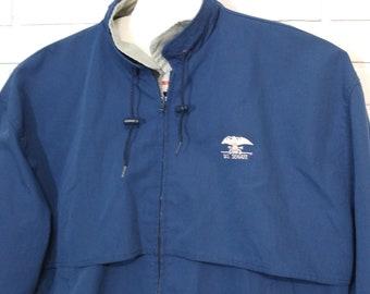 Vintage US Senate Jacket Union Made Blue Embroidered Logo USA Government Clothing Senator Exclusive Limited