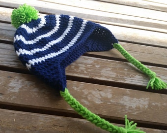 Seahawks hat with earflaps